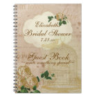 Shabby Chic Romantic Vintage Bridal Guest Book |