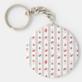 Shabby Chic Roses Floral Vintage Key Chain