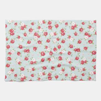 Shabby Chic Roses Floral Vintage Tea Towel