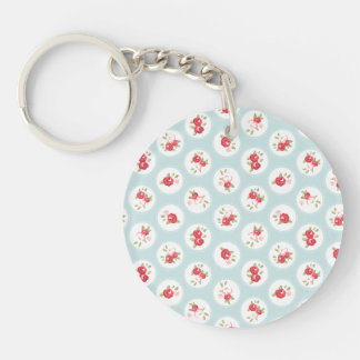 Shabby Chic Roses girly Vintage Keychain