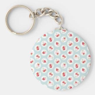 Shabby Chic Roses girly Vintage Keychains