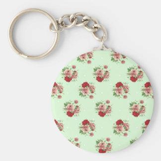 Shabby Chic roses Keychain