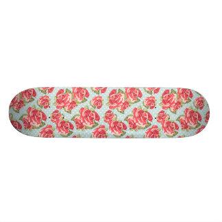 Shabby Chic Roses skateboard Floral Vintage