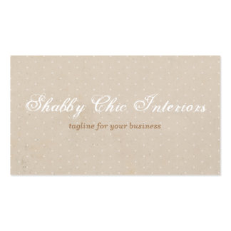 Shabby Chic Rustic Kraft & Polka Dot Business Card