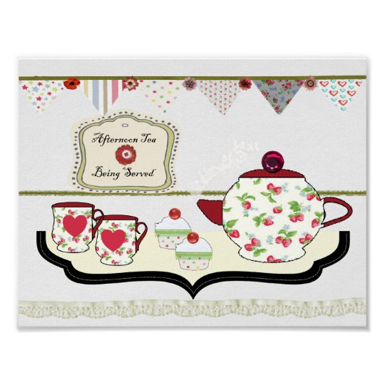 Shabby Chic Kitchen Accessories Uk: Shabby Chic Style Kitchen Wall Decor Cup Of Tea