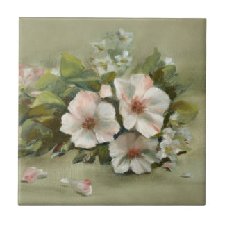 Shabby Chic style Roses Small Square Tile