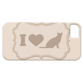 Shabby Chic Tag I Love Cats Cover iPhone 5s Case iPhone 5 Cover