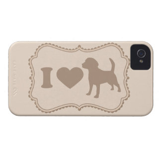 Shabby Chic Tag I Love Dogs Cover iPhone 4s Case iPhone 4 Case-Mate Cases