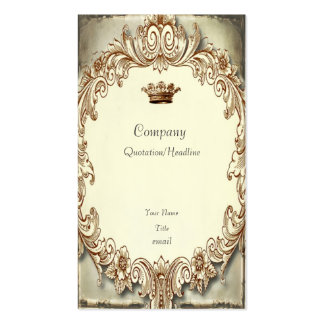 Shabby Chic Tattered Crown Business Card