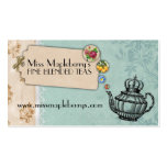 shabby chic tea vintage bubbling teapot crown Double-Sided standard business cards (Pack of 100)