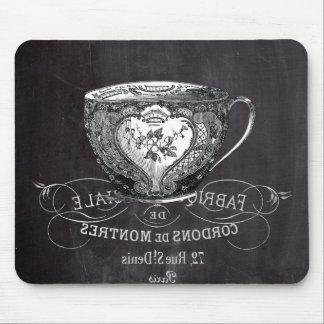 shabby chic teacup vintage Chalkboard  tea party Mousepads