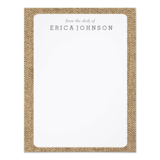 Shabby Chic Tweed Rustic Burlap Fabric Texture 11 Cm X 14 Cm Invitation Card