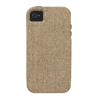 Shabby Chic Tweed Rustic Burlap Fabric Texture Vibe iPhone 4 Covers