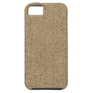 Shabby Chic Tweed Rustic Burlap Fabric Texture iPhone 5/5S Covers