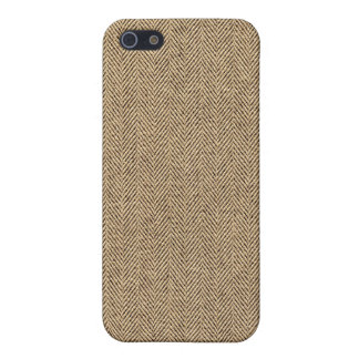 Shabby Chic Tweed Rustic Burlap Fabric Texture iPhone 5 Covers
