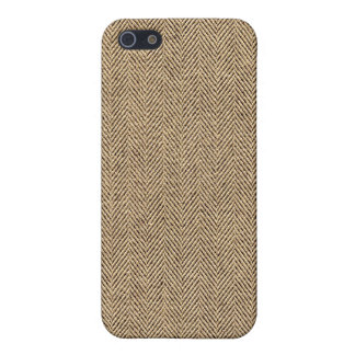 Shabby Chic Tweed Rustic Burlap Fabric Texture Cover For iPhone 5/5S