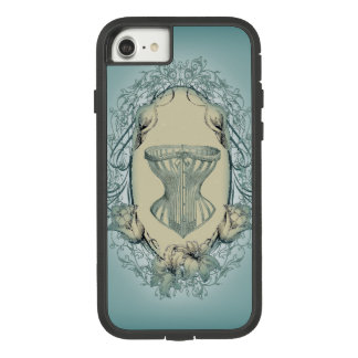 shabby chic victorian floral wreath vintage corset Case-Mate tough extreme iPhone 8/7 case
