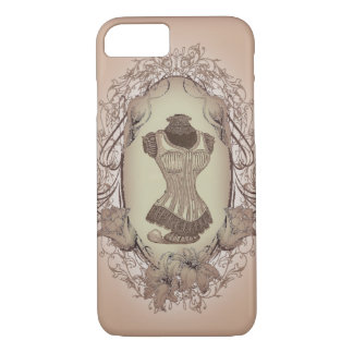 shabby chic victorian floral wreath vintage corset iPhone 8/7 case