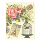 Shabby Chic vintage art Paris accessories and gift Postcard