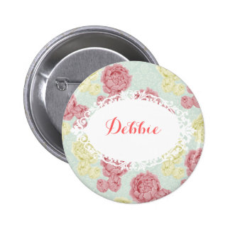 Shabby Chic Vintage Floral and Lace Name Badge