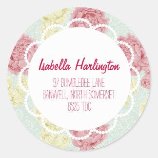 Shabby Chic Vintage Floral Return Address Label