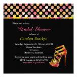 Shabby Chic Vintage High Heel Bridal Shower Invite