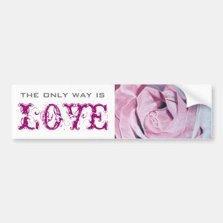Shabby chic vintage romantic elegant pink roses bumper sticker