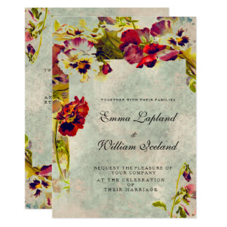Shabby Chic Vintage Roses Wedding Invitation