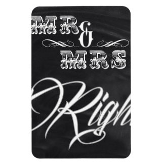 shabby chic vintage typography mr and mrs flexible magnet