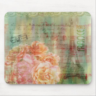 Shabby collage mousepad