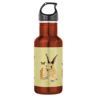 Shabby Floral Bunny  Liberty Bottle 532 Ml Water Bottle