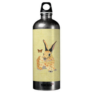 Shabby Floral Bunny  Liberty Bottle SIGG Traveller 1.0L Water Bottle