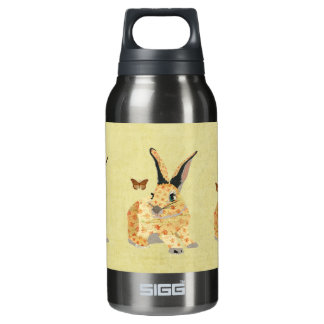 Shabby Floral Bunny  Liberty Bottle 10 Oz Insulated SIGG Thermos Water Bottle
