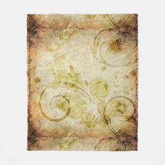 Shabby Floral Fleece Blanket