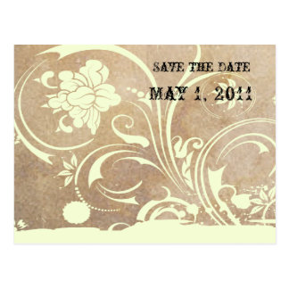 Shabby Lace Save the Date Postcard
