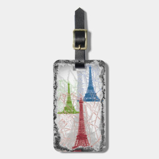 Shabby Paris Eiffel Tower Luggage Tag