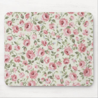SHABBY PETITE PINK ROSES MOUSE PAD