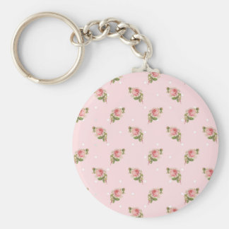 Shabby pink roses key chains