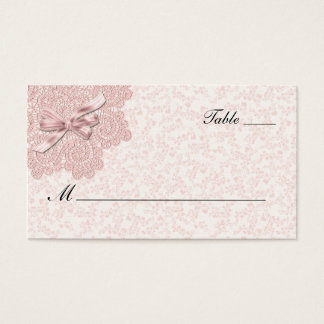 Shabby Pink Victorian Wedding Escort Card