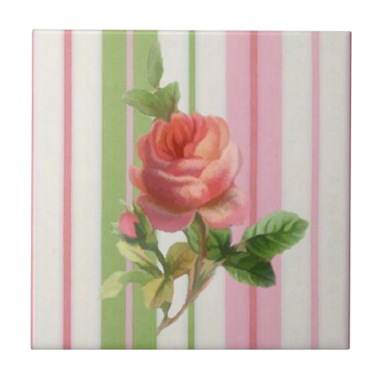 Shabby Rose Tile