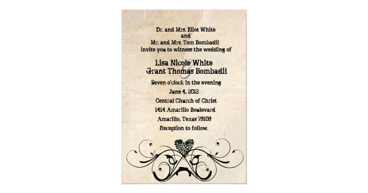 Cheap Shabby Chic Wedding Invitations: Shabby Rustic Wedding Invitation