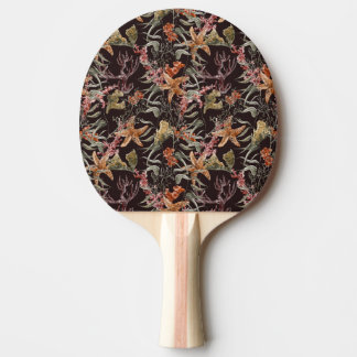 Shabby Sea Life Pattern Ping Pong Paddle