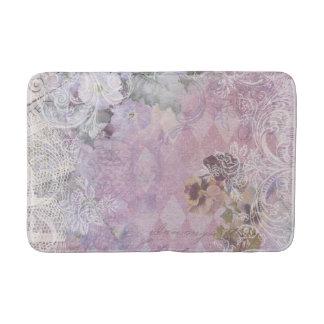 Shabby Vintage Purple Floral Bath Mats