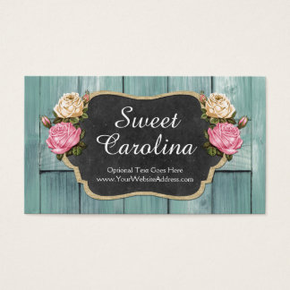 Shabby Vintage Roses Rustic Country Chalkboard