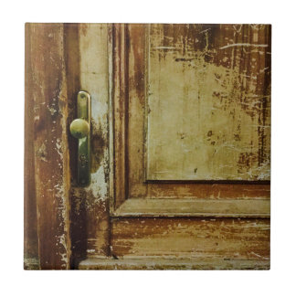 Shabby Vintage Wood door SIRAdesign Small Square Tile