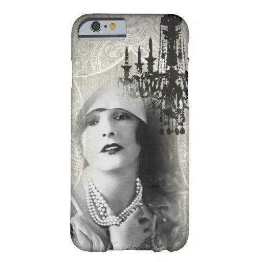 shabbychic Chandelier Vintage Paris Lady Fashion iPhone 6 Case