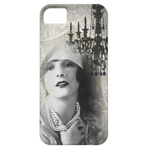 shabbychic Chandelier Vintage Paris Lady Fashion iPhone 5 Case