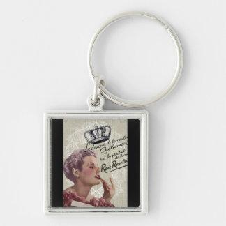 shabbychic crown Vintage Paris Lady Fashion Silver-Colored Square Key Ring