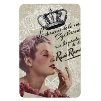 shabbychic Posh Vintage Paris Lady Fashion Rectangular Photo Magnet