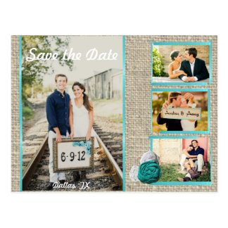 Shaby Chic Save the Date Postcard